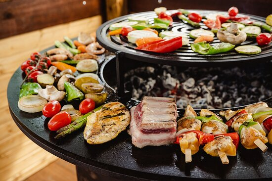 Delicious BBQ with natural products from own farms at Katarino SPA Hotel
