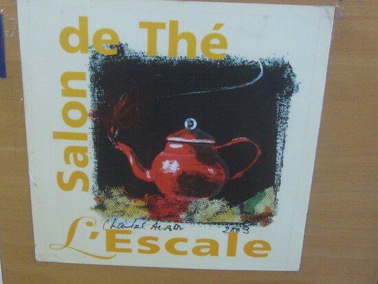 Café Thé Snack L'Escale de La Librairie La Boîte à Livres. Vue 2. Affiche du Thé Snack L'Escale. Août 2021. TOURS.