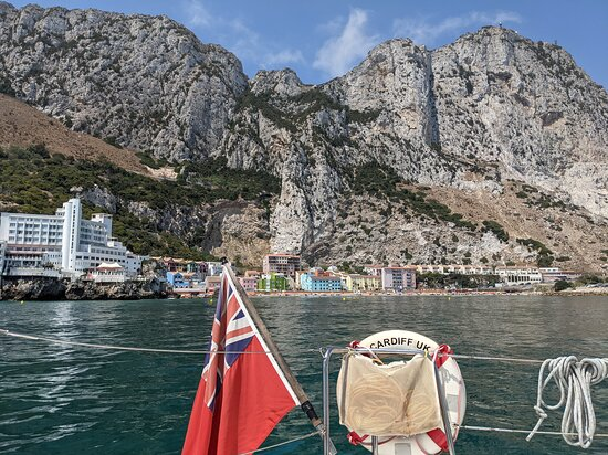 View of Catalan Bay from the water