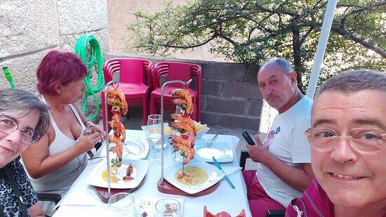Bacalau!! And a beautiful bottle of Vinho Verde.  Great prices and great food... - Restaurante  O Carlos, Monsanto Resmi - Tripadvisor