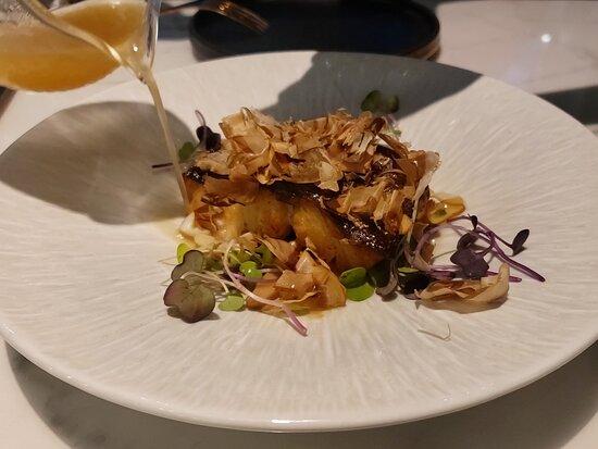燒黑鱈魚 松本茸 鰹魚湯