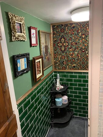 Redecorated customer toilet