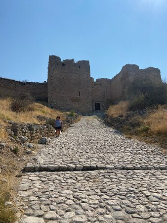 """Ancient Corinth, Epidaurus, Nafplio full day private tour from Athens: Acrocorinth, """"Upper Corinth"""", the acropolis of ancient Corinth, is a monolithic rock overseeing the ancient city of Corinth, Greece."""