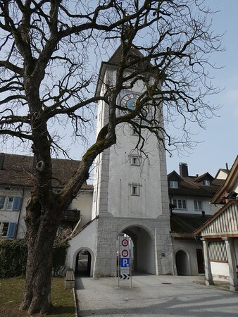 the tower seen from outside the town