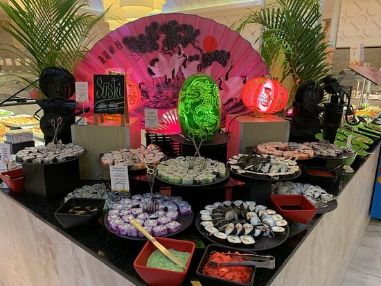 One of the theme nights at the Main Buffet restaurant.