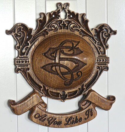 The name of the room appearing on the room door.