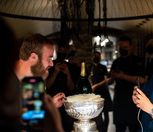 Visite de David Savard avec la Coupe Stanley/Visit from David Savard with the Stanley Cup