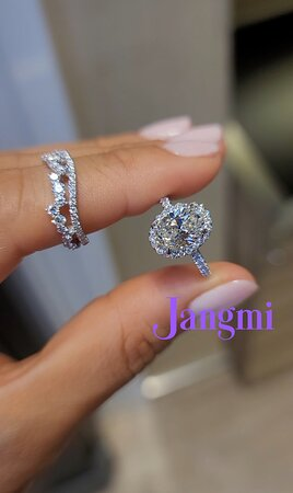 2ct oval cut on our halo pave setting.