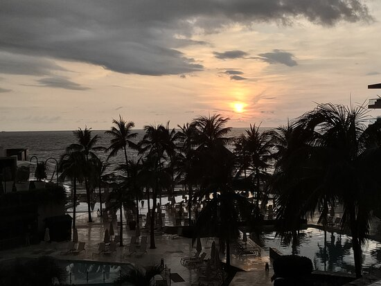 Sunset view from lobby