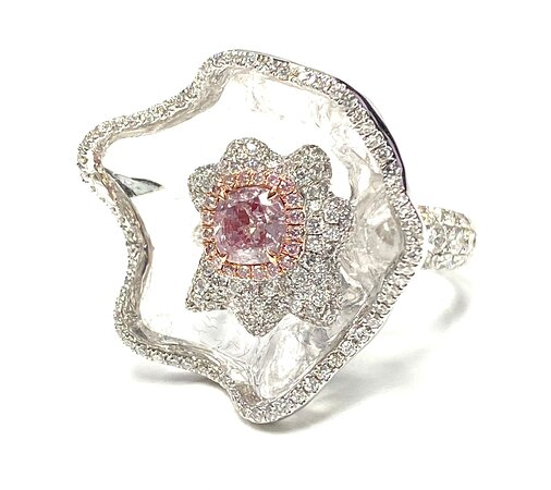 Natural Pink Diamond Ring - Investment Jewels