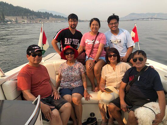 July 2021. Great afternoon cruise with this lovely family from Edmonton.