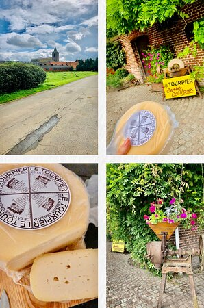 The beauty of childish curiosity on the road is that you discover and taste the best! Like this time In the Hainaut province of Belgium in TOURPES village discovered the cheesemaker with his absolutely delicious products!