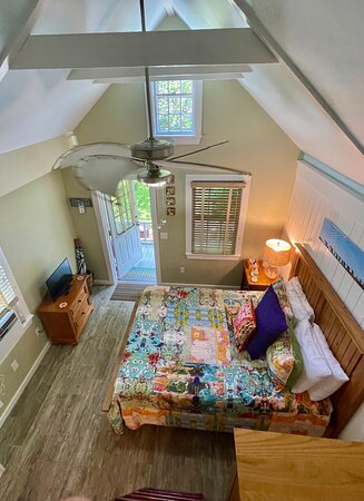 View from the loft within the Koi Cottage.