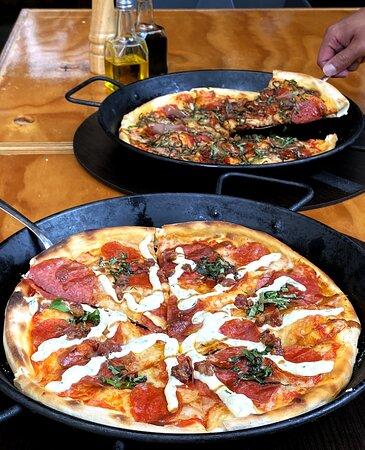 Deliciosa pizza y pasta