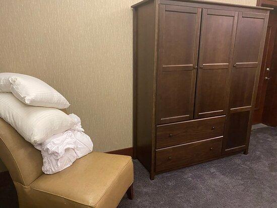 Room 2813 Bedroom opposite wall with second door adjoining another suite.