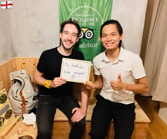 He is from England 🏴 and comes during his move to Japan. Thank you so much for your continued patronage! We hope your stay in Japan will be a happy and healthy time.