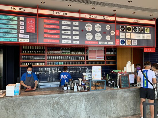 INK Seafood Bar - order and food pick up counter