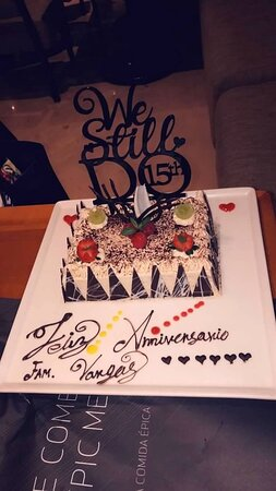 Thank you Grillo at Ciao for our Anniversary cake!