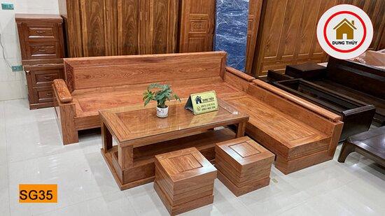 Sofala, Úc: Sofa góc trứng gỗ hương xám SG35