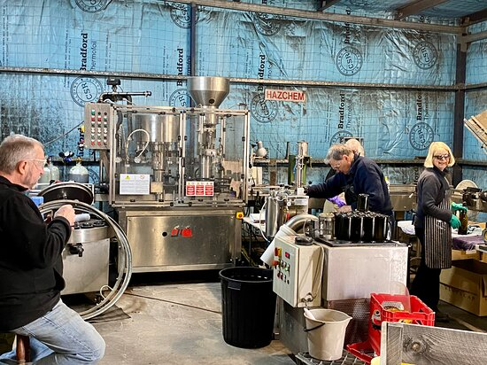 At work in the winery making Sparkling Wines Vintage 2021