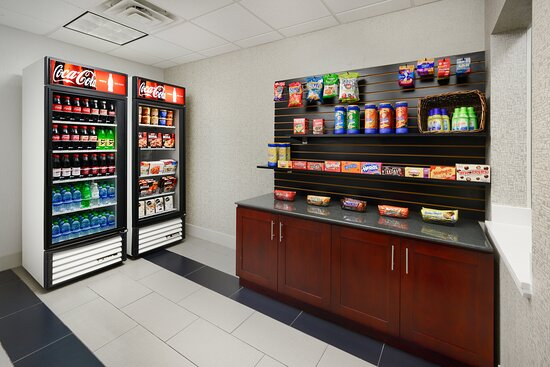 Grab a snack or soda from our hotel lobby snack shop.