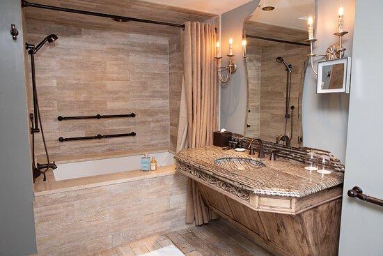 Standard King ADA Bathroom with Tub