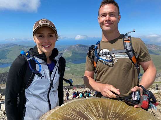 Llangoed, UK: The last summit of Yr Wyddfa on a Welsh 3000 challenge