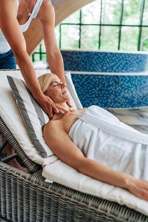Massagebehandlingar i vårt läckra spa.