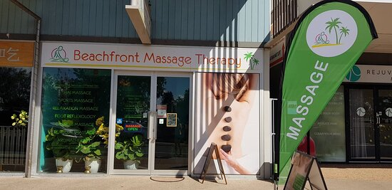 Shop front of the best massage clinic on the Esplanade.