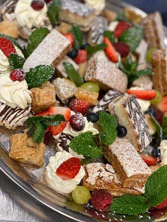 Dessert platter for weddings and parties