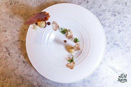Cauliflower Velouté   Foie Gras Terrine   Fig Purée   Celery Hearts
