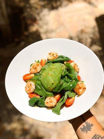 Grilled Shrimp  Salad , ekstra Avakadolu