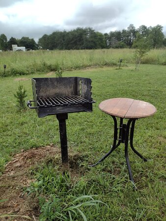 Lewisburg, TN: Charcoal grill right outside the tipi