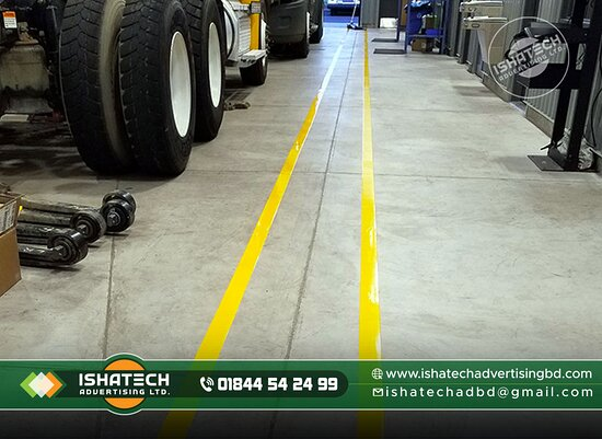 We Provided Floor marking tapes, shapes, and signs that can increase safety and efficiency in Bangladesh. ►Contact us for more information: Cell: 01844 - 542 499, 01844 - 542 498 ►Visit our Sent: E-mail: ishatech.advertising@gmail.com E-mail: info@ishatechadvertisingbd.com ►Corporate Office: 04-B/A, (2nd Floor), Mazar Road,  Sector-1, Mirpur, Dhaka-1216. ►To Visit Our Page: Website: www.ishatechadvertisingbd.com Service Page: https://bit.ly/3szkEJl Project Page: https://bit.ly/3u1PXNl Gallery Pa