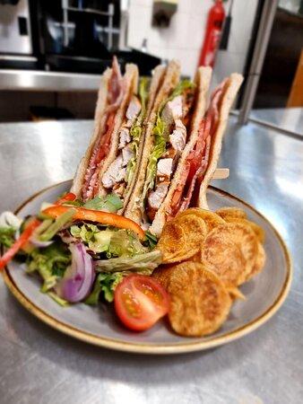 Classic club sandwich. Tripple decker.