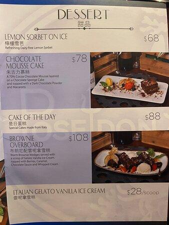 Food, menu, environment