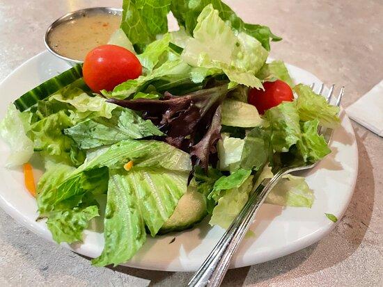 Salade verte fraîche et croustillante
