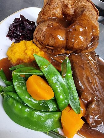 Our delicious sunday roast served all day on sundays. When it's gone it's gone...