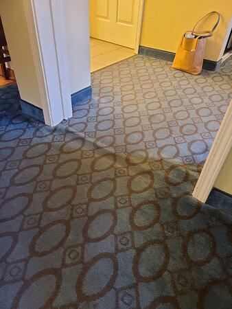 More wrinkled carpeting