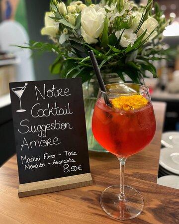 Notre cocktail suggestion du moment, pour que nos amoureux s'aiment encore plus...
