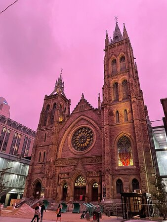 Exterior view of the church,…that's beautiful.
