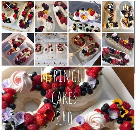 Meringue number cakes 👌