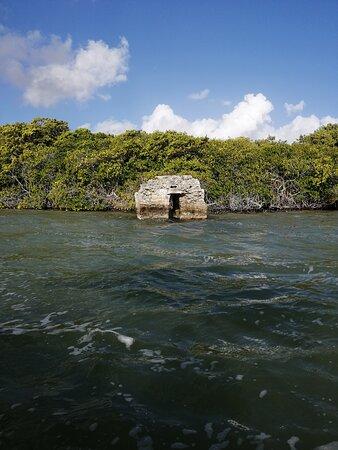 Mayan ruins in the Sian Ka'an reserve