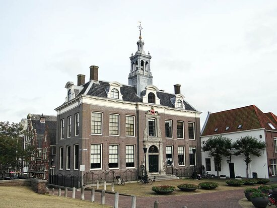 the town hall on the square