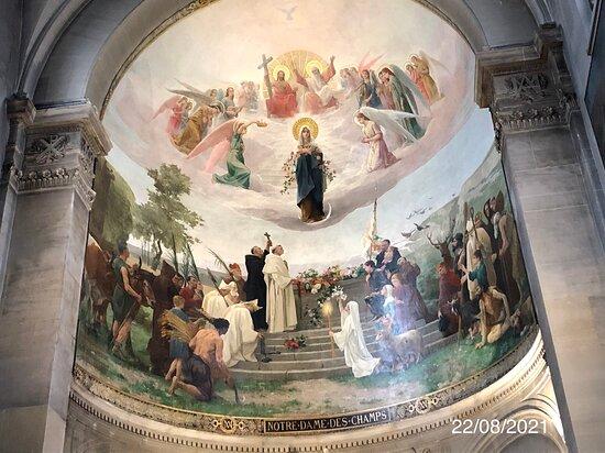 La fresque de l'abside de l'Église Notre-Dame-des-Champs a été restaurée