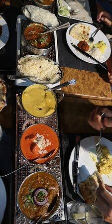 Curry, Karma, Tikka massala, Madras, onion bhaji