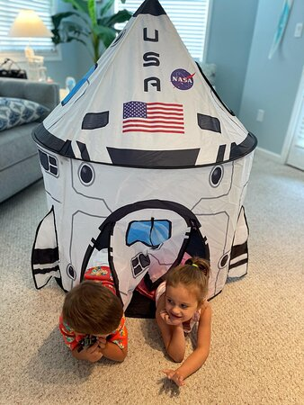 NASA Space Ship Tent for Indoor Camping.