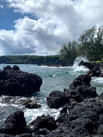 Half Day - Half way to Hana: lava rocks and ocean