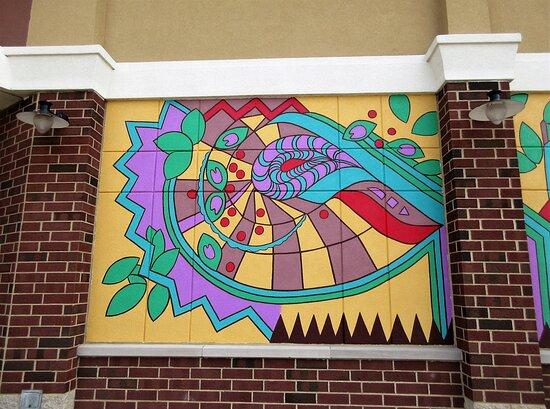 Abstract Public Art: mural (detail)  1.  August 2021