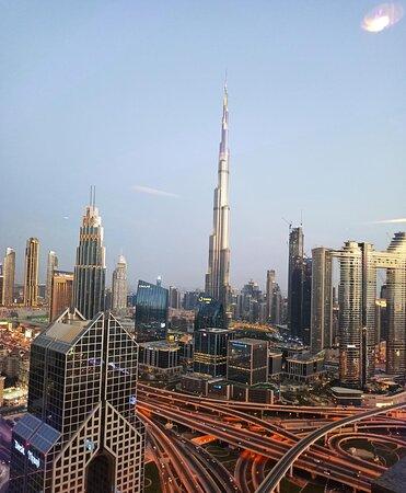 View on burj Khalifa from 42nd floor